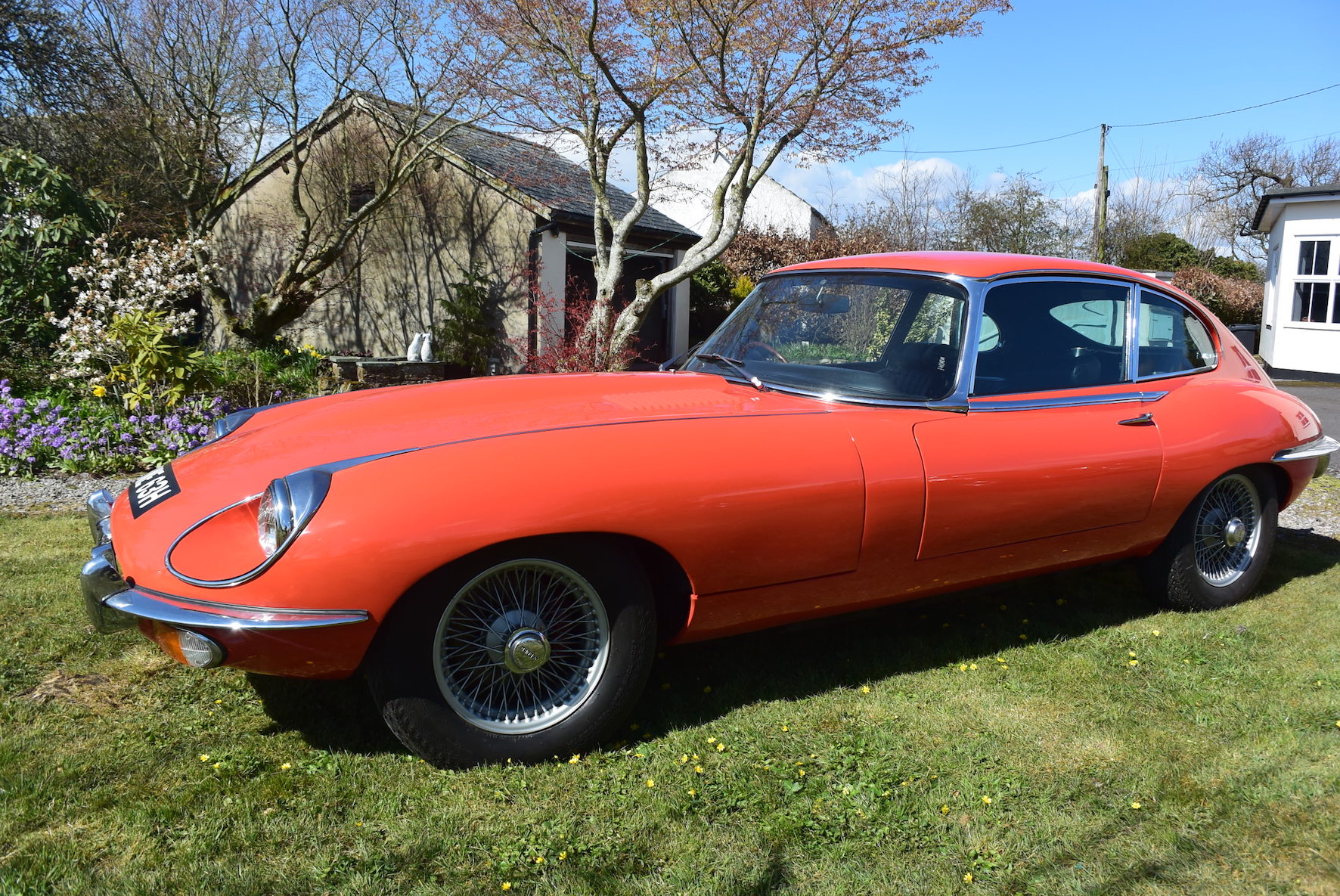 Rare Tangerine Jaguar E-Type for sale at IWM Duxford on May 26th